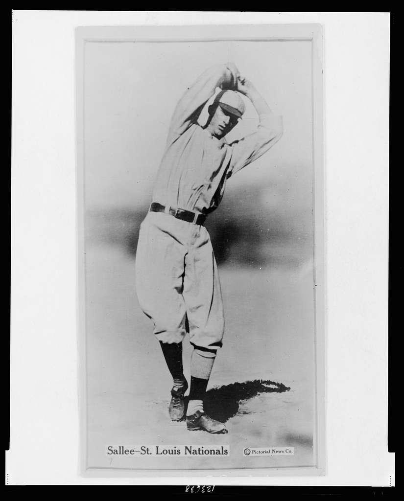 [Slim Sallee, St. Louis Cardinals, baseball card portrait]