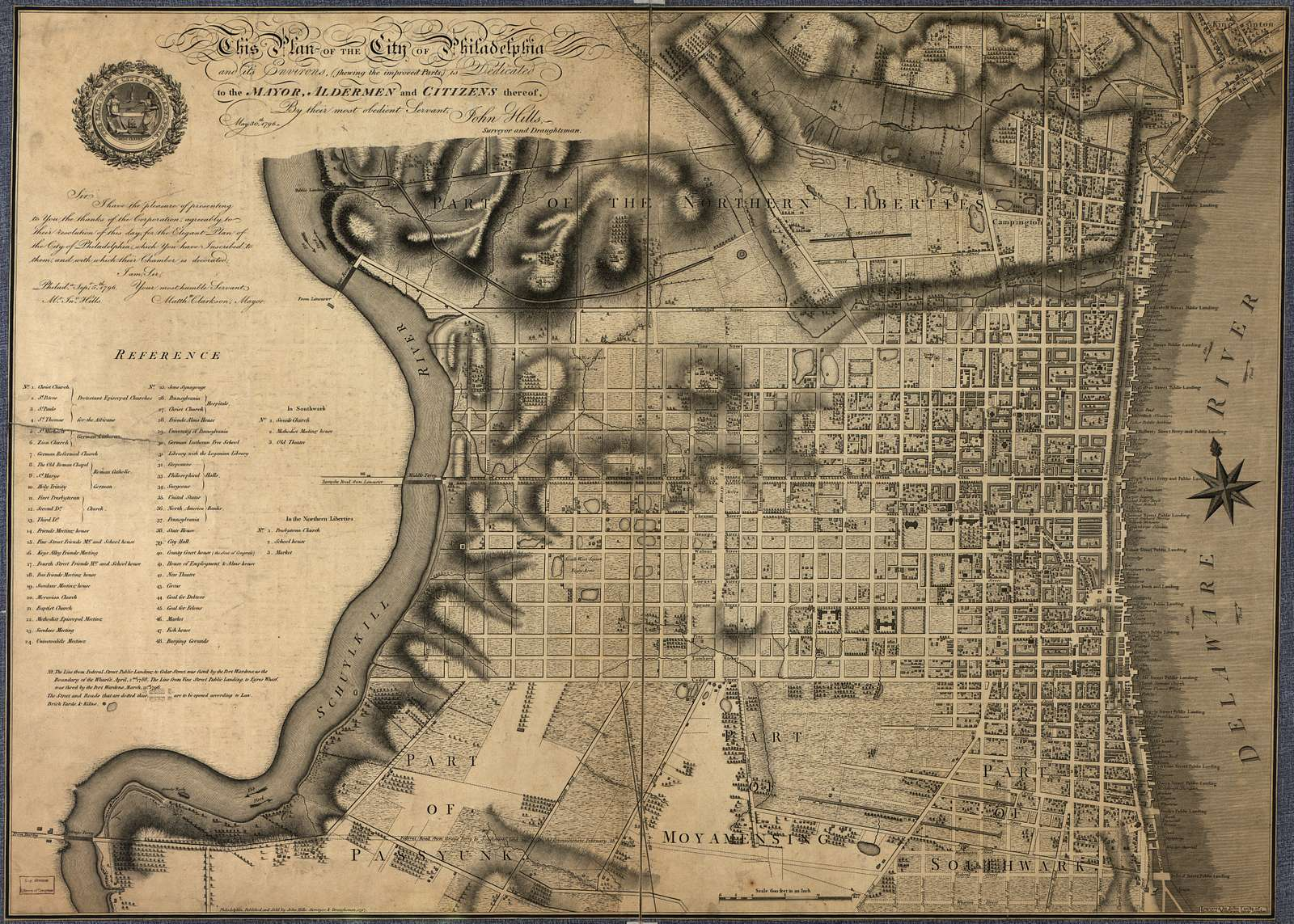 This plan of the city of Philadelphia and its environs (showing the improved parts) /