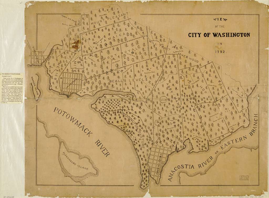 View of the city of Washington in 1792.