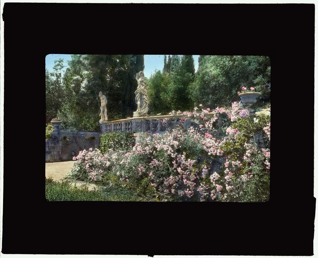 [Villa La Pietra, via Bolognese, 120, Florence, Tuscany, Italy. Terrace wall]