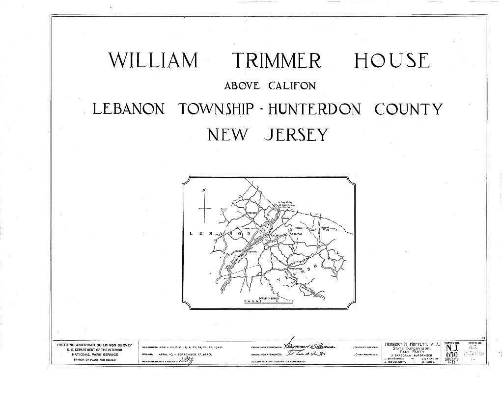 William Trimmer House, Califon, Hunterdon County, NJ