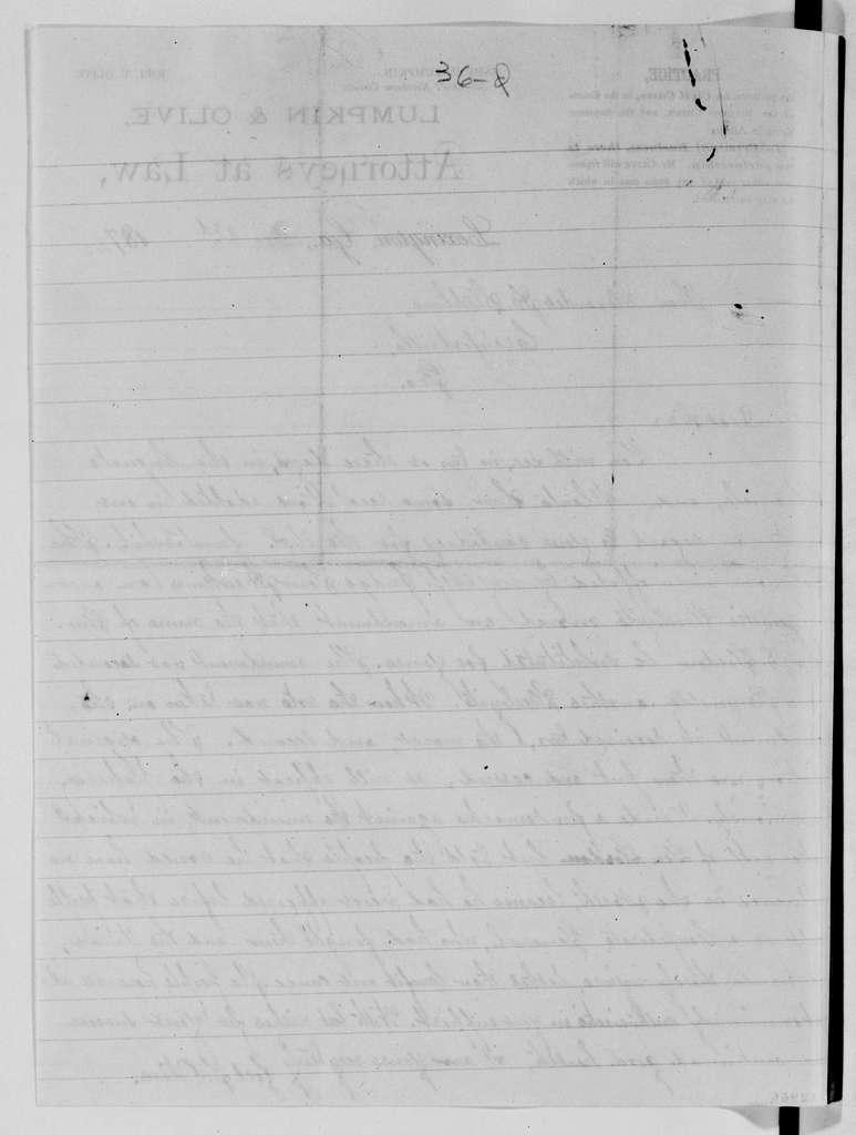 Alexander Hamilton Stephens Papers: General Correspondence, 1784-1886; 1872, Nov. 10-Dec. 31