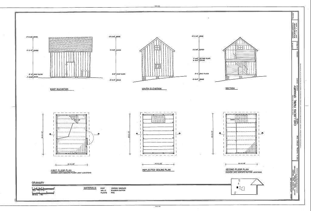 Chellberg Farm, Granary, 900 North Mineral Springs Road, Porter, Porter County, IN
