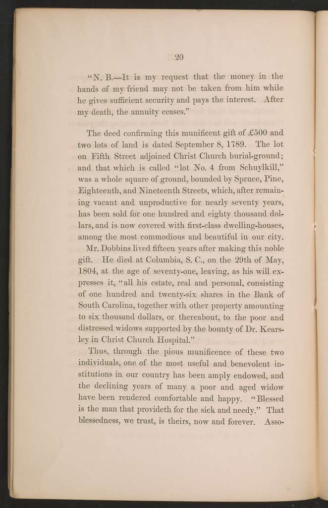 Christ Church Hospital : proceedings on the occasion of laying the corner
