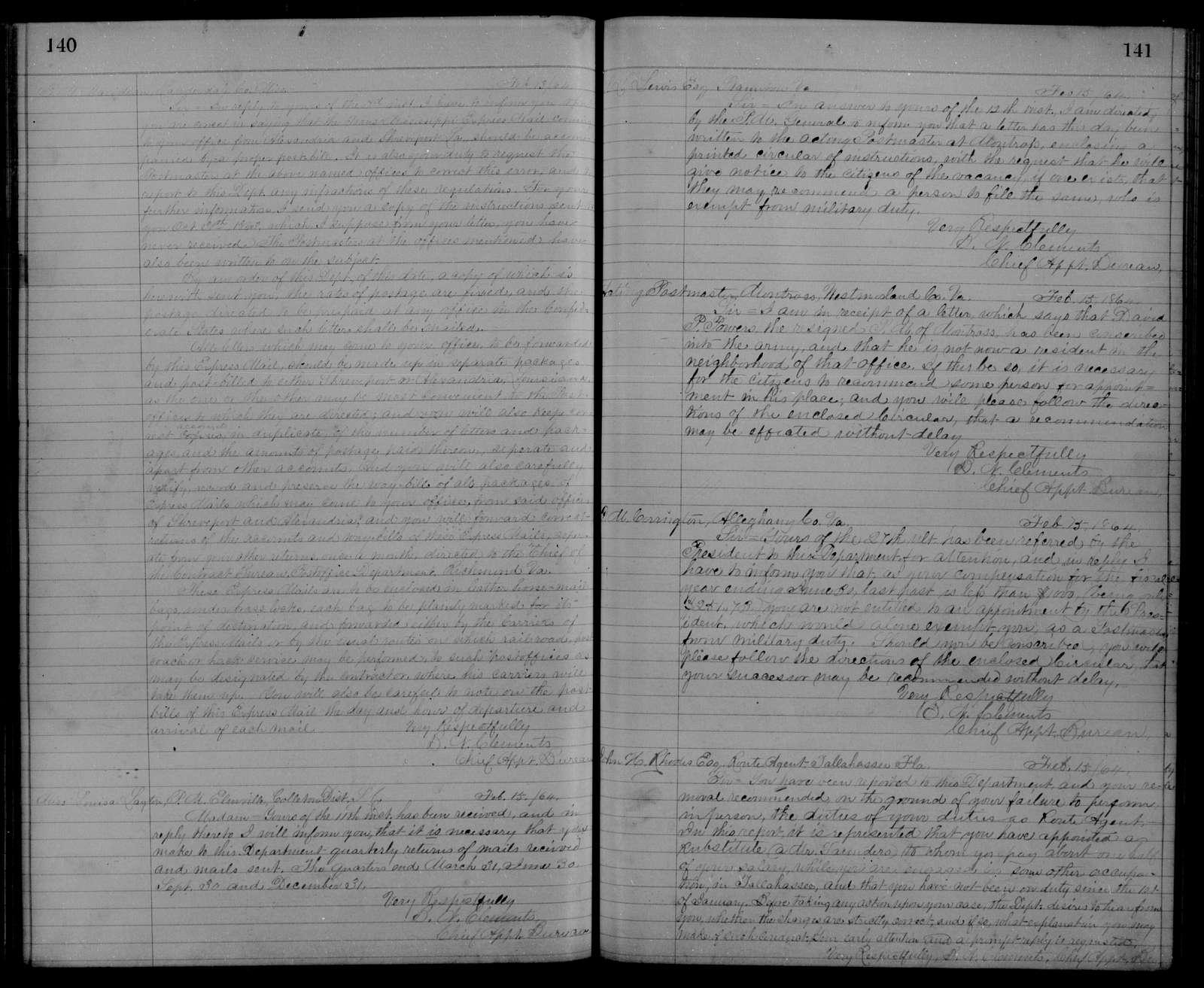 Confederate States of America records: Microfilm Reel 51