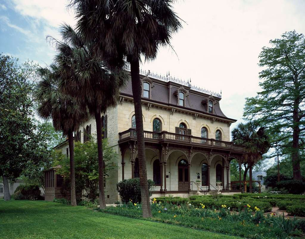 Edward Steves Homestead museum, built in 1876 in the historic King William District of San Antonio, Texas