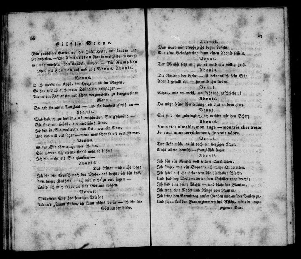 Entführung der Prinzessin Europa. Libretto. German