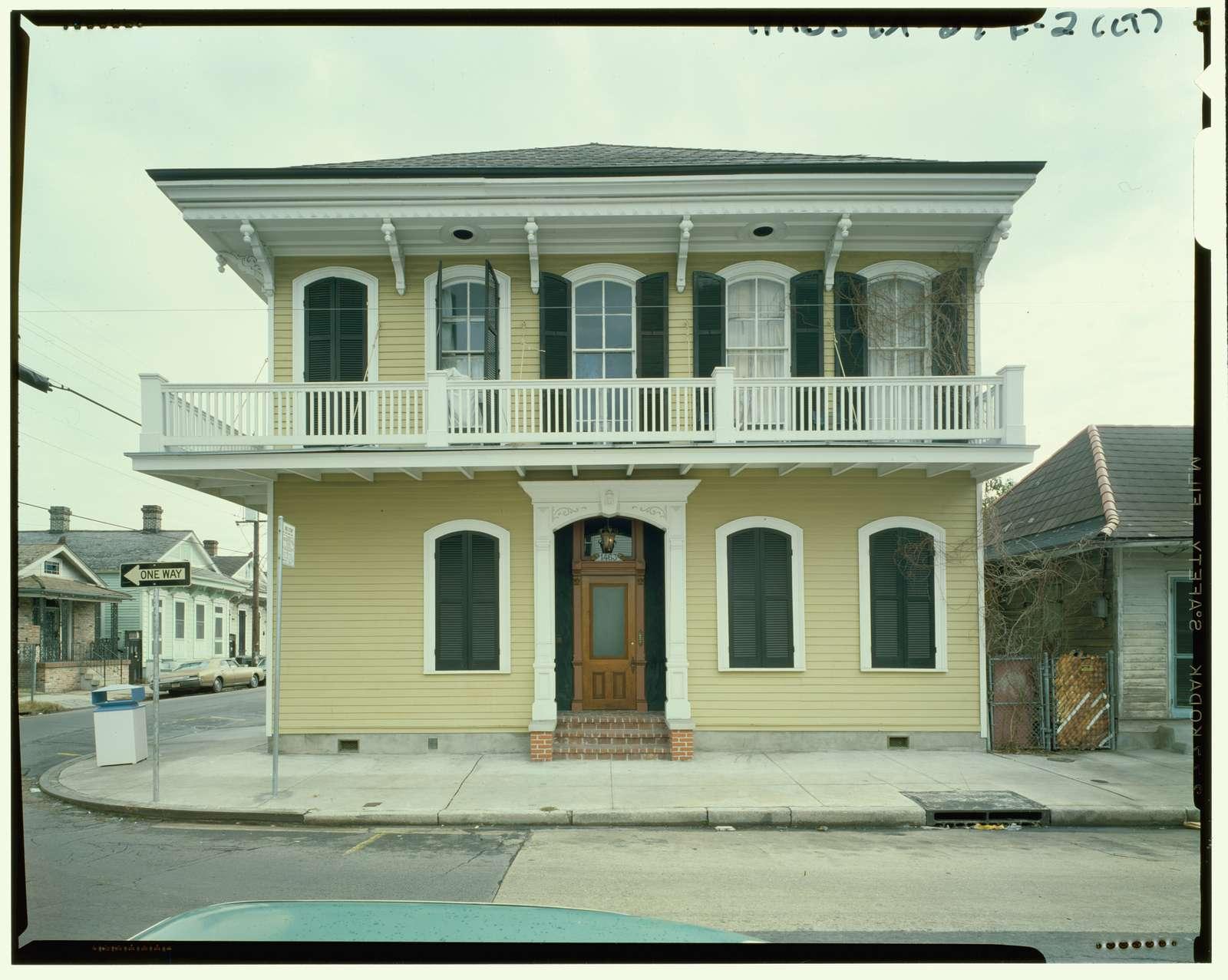 Faubourg Marigny District, 1463 Pauger Street (House), New Orleans, Orleans Parish, LA