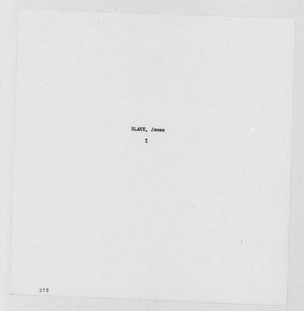 George Washington Papers, Series 7, Applications for Office, 1789-1796: James Blake