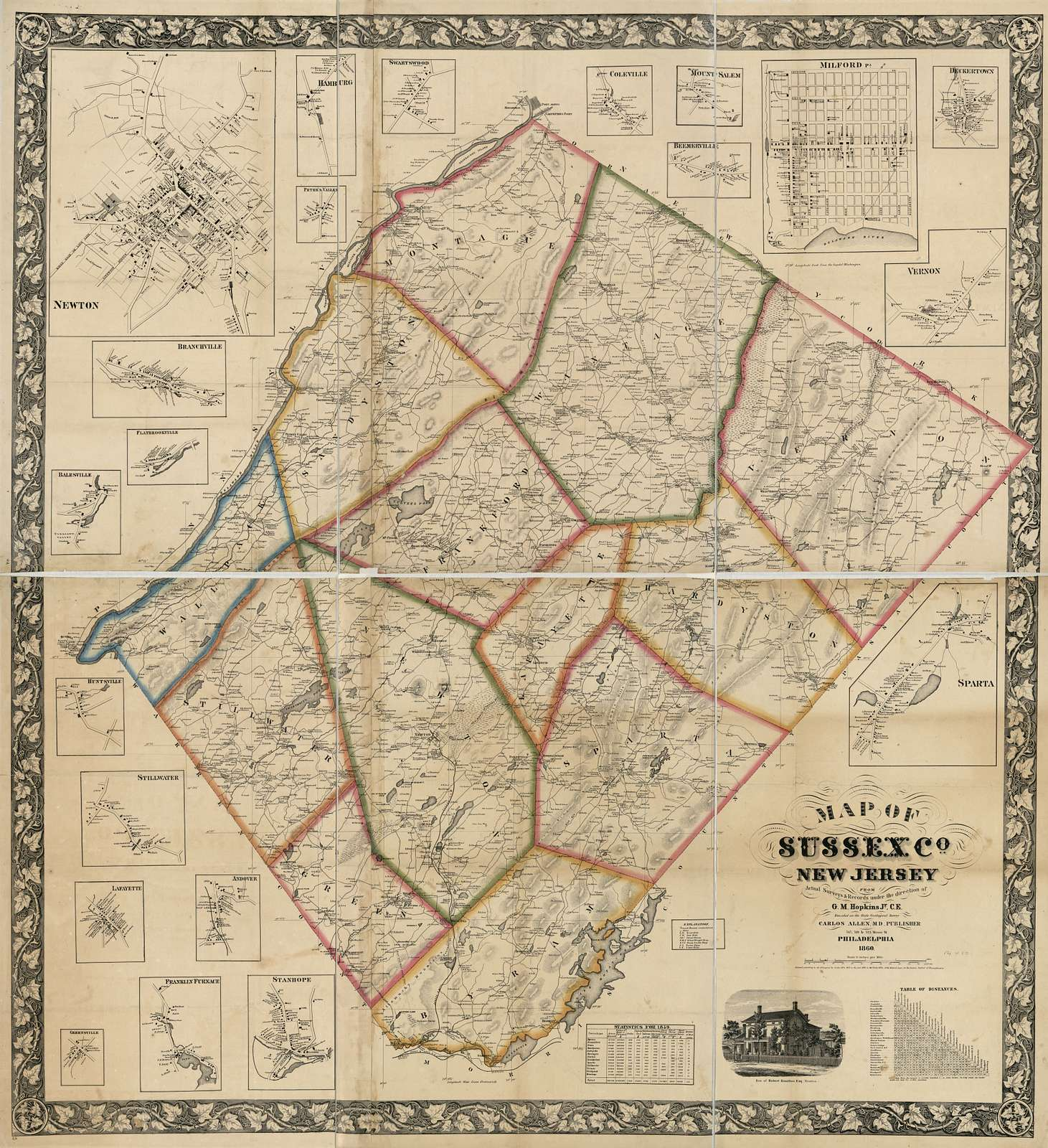 Map of Sussex Co., New Jersey : from actual surveys & records /