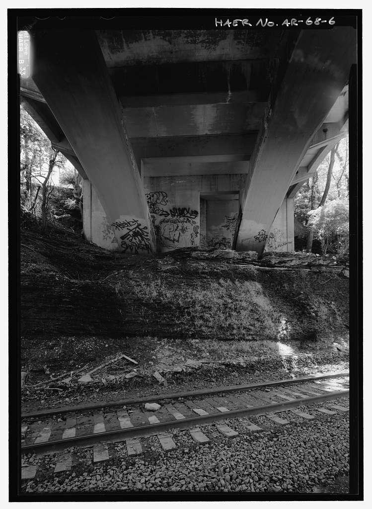 Maple Street Bridge, Spanning former St. Louis & San Francisco Railroad at Maple Street, Fayetteville, Washington County, AR