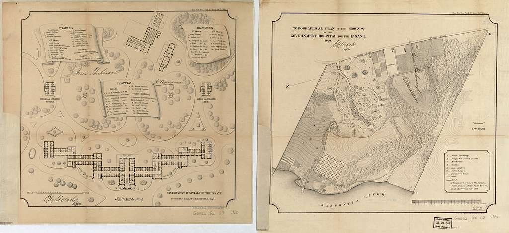 [Maps of Saint Elizabeths Hospital, Washington D.C.] /