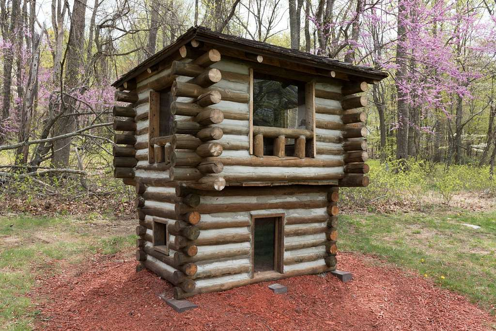 Model of Cabin No. 8 at Cacapon Resort State Park, near Berkeley Springs in Morgan County, West Virginia