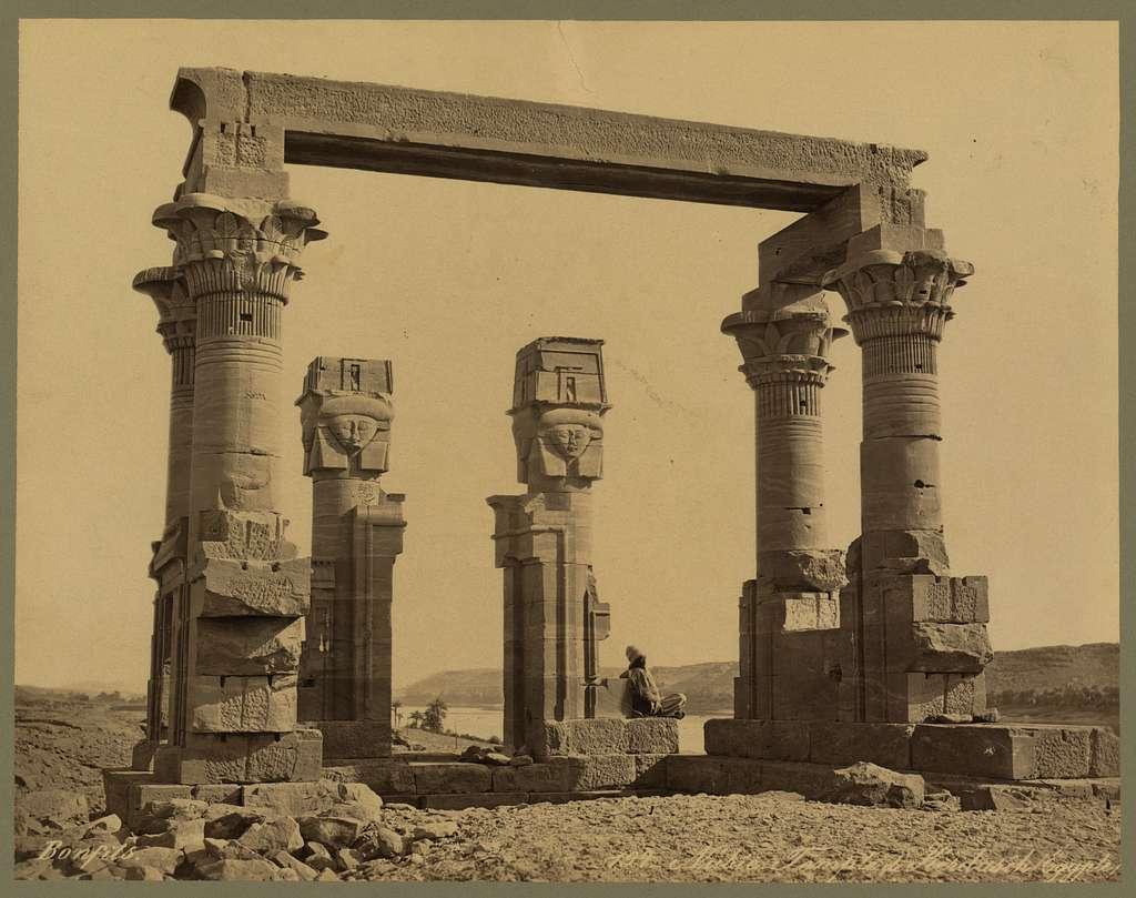 Nubie Temple de Kerdasêh (Egypte) / Bonfils.