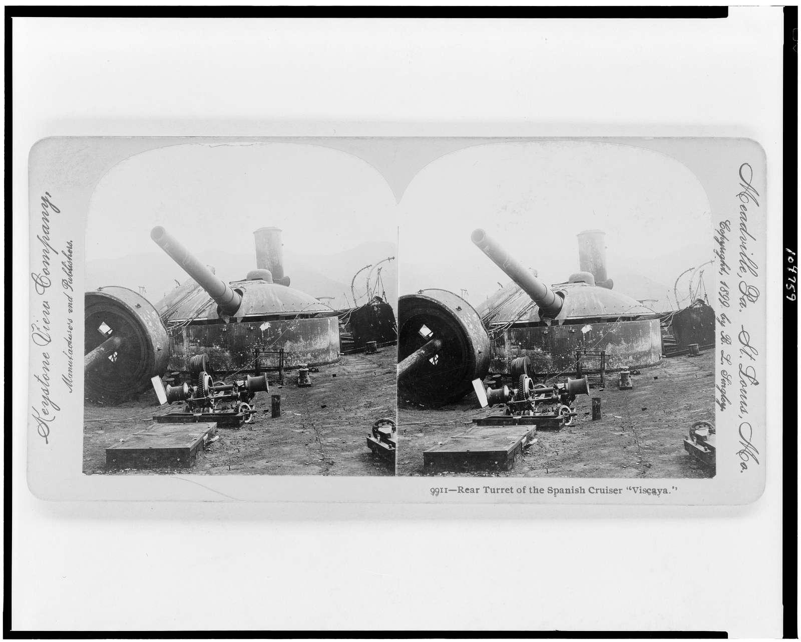 "Rear turret of the Spanish cruiser ""Viscaya"