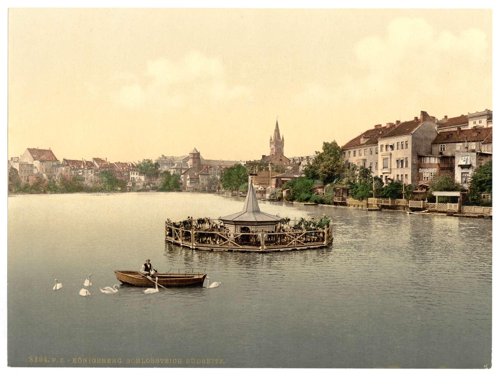 [The lake, south side, Konigsberg, East Prussia, Germany (i.e., Kaliningrad, Kaliningradskai︠a︡ oblastʹ, Russia)]