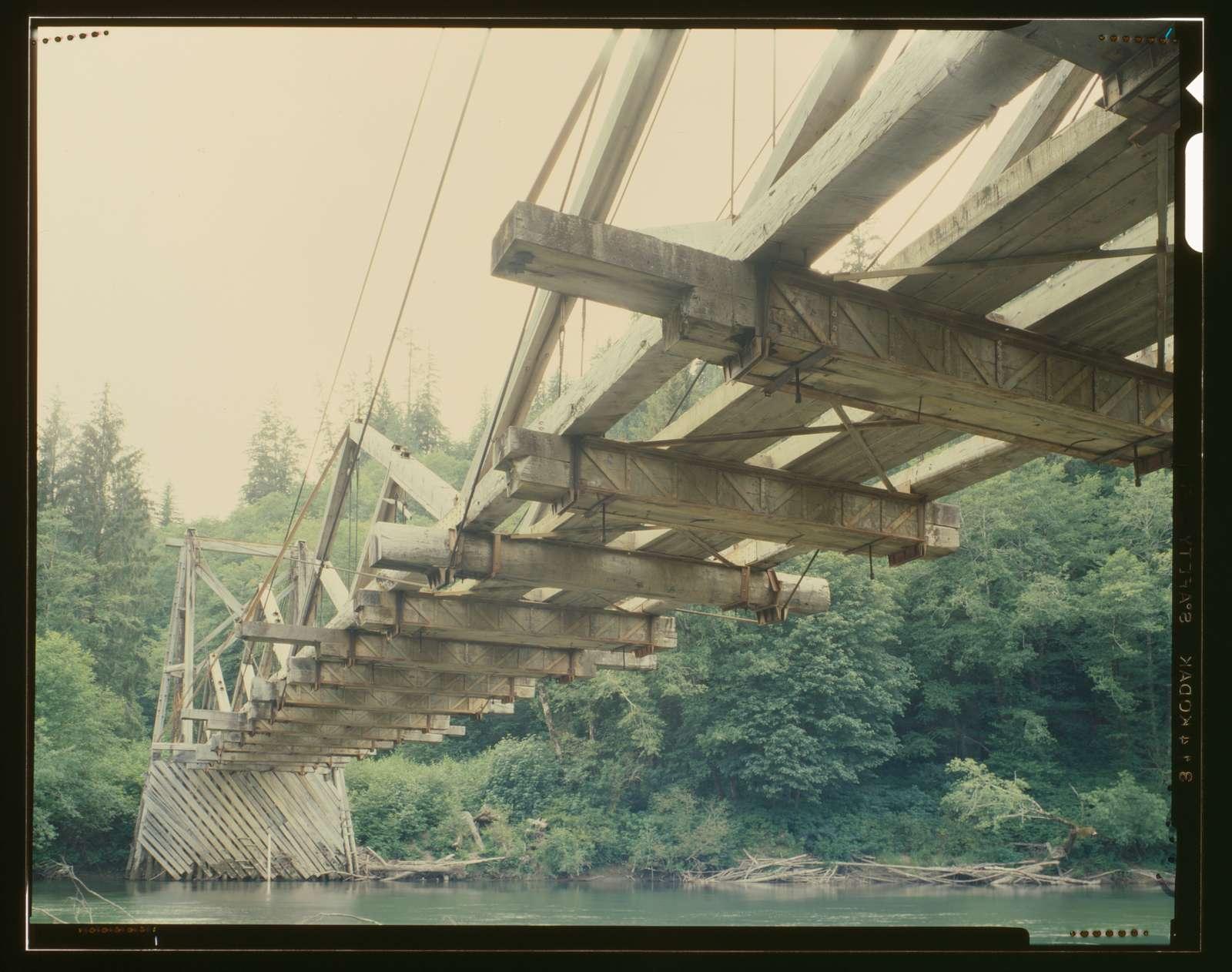 Chow Chow Suspension Bridge, Spanning Quinault River, Taholah, Grays Harbor County, WA