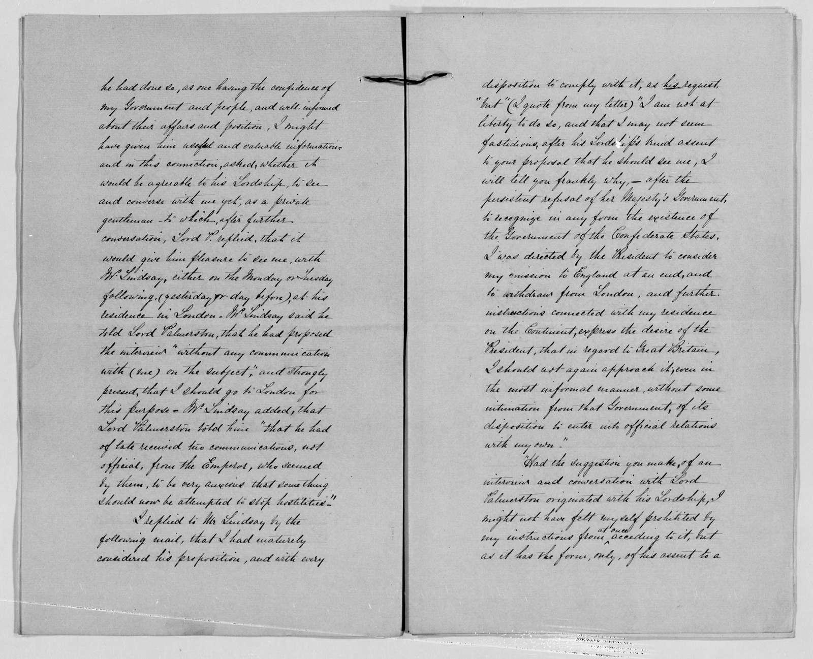 Confederate States of America records: Microfilm Reel 2