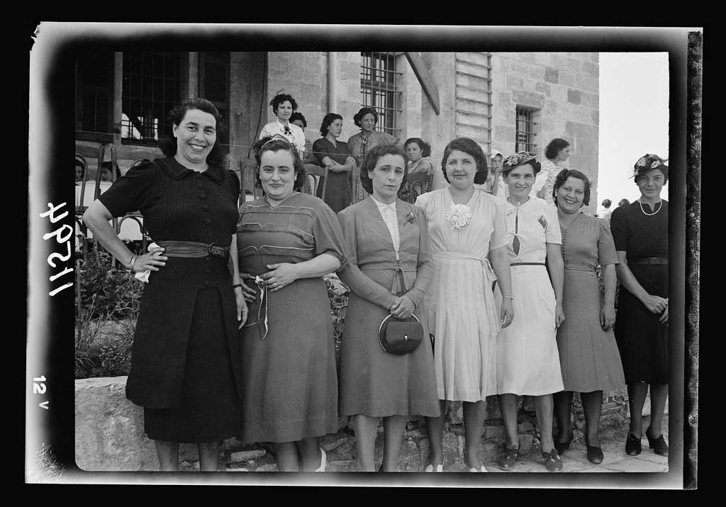 Galilee trip. Nazareth, afternoon fete in aid of the Red Cross & Knights of St. John. The Ladies Committee for the fete
