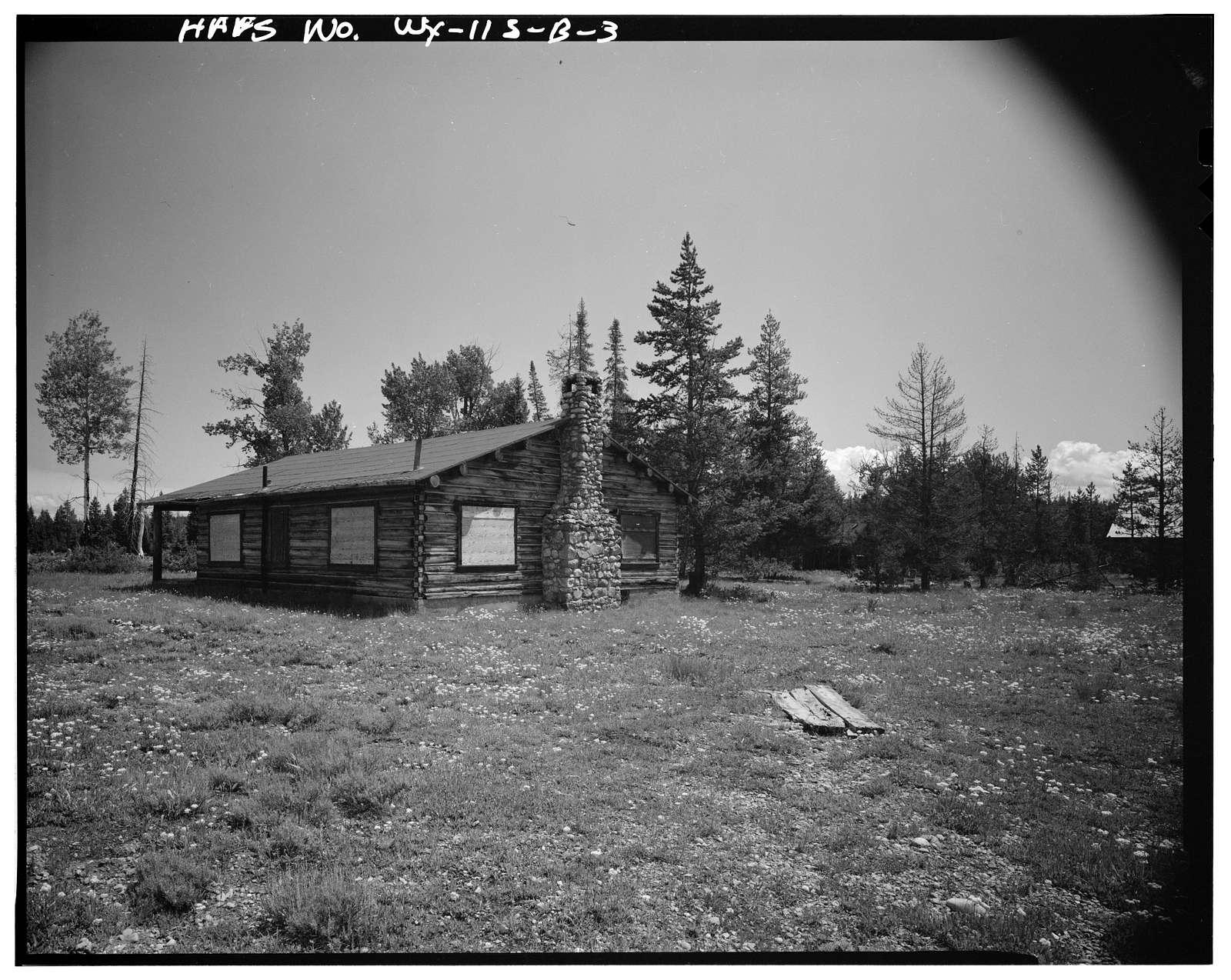 Geraldine Lucas Homestead, Russell Lucas Cabin, West bank Cottonwood Creek, 2.5 miles downstream from Jenny Lake, Moose, Teton County, WY