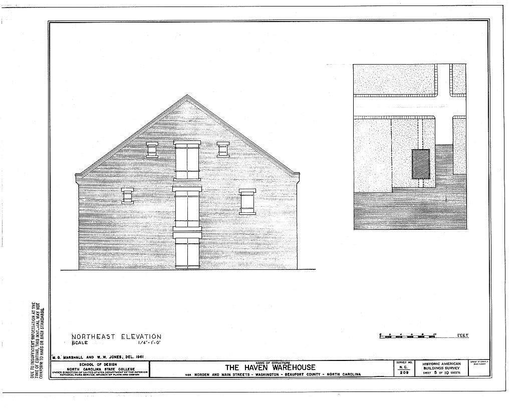 Haven Warehouse, Van Norden & Main Streets, Washington, Beaufort County, NC