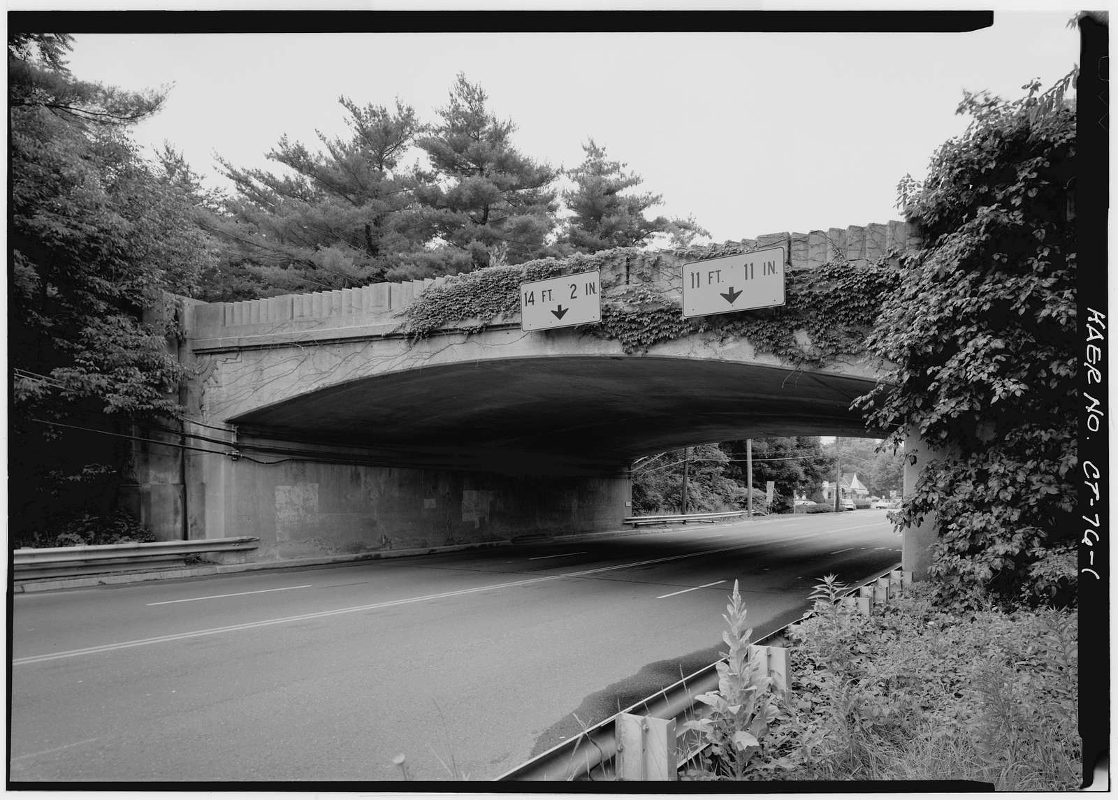 Merritt Parkway, Long Ridge Road/Route 104 Bridge, Spanning Long Ridge Road/Route 104, Stamford, Fairfield County, CT