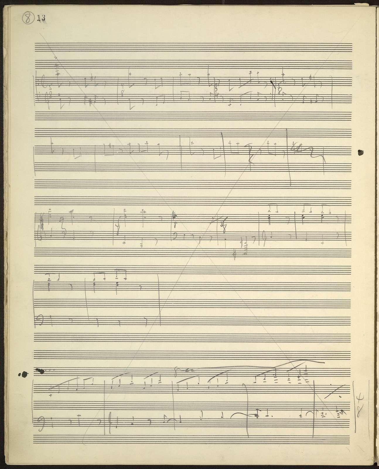 Piano sonata sketches