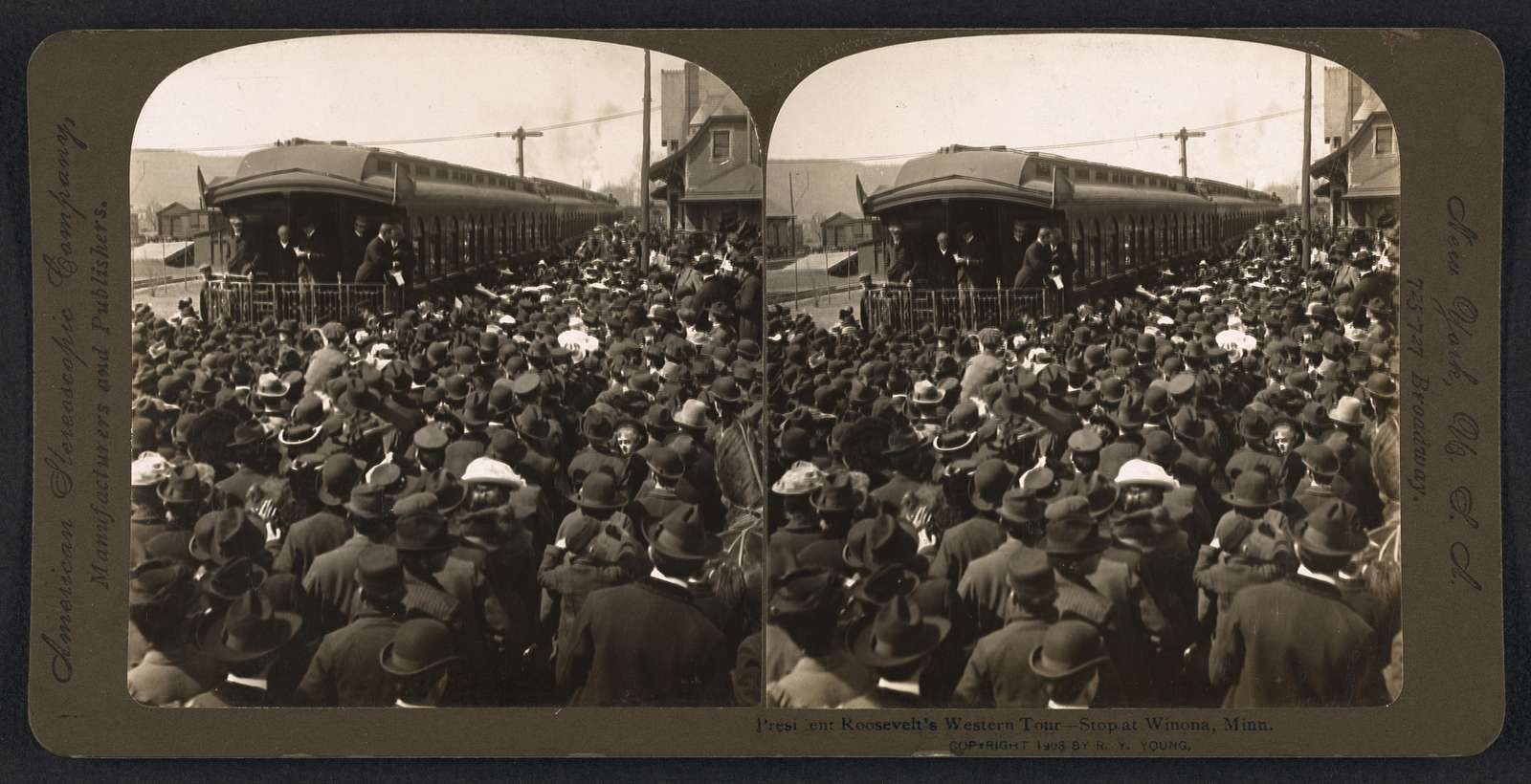 President Roosevelt's western tour - stop at Winona, Minn.