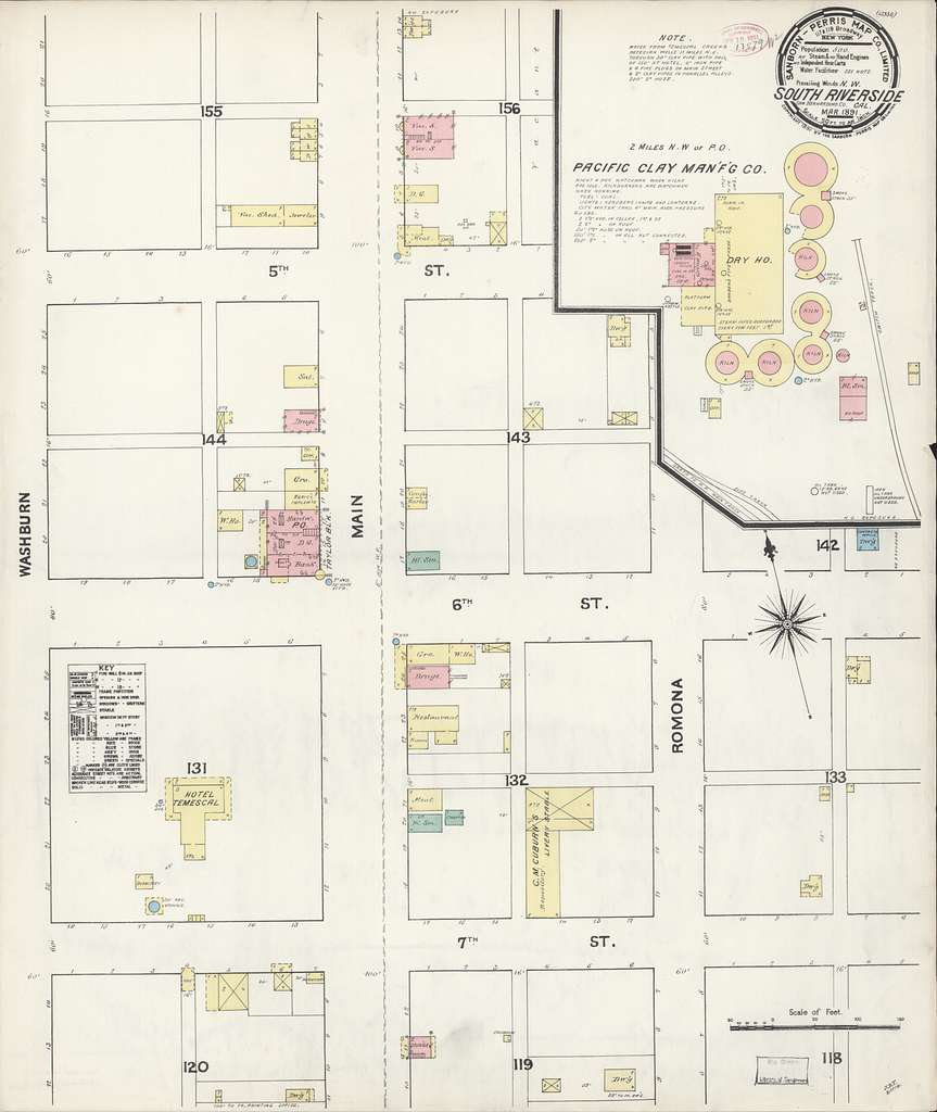 Picture of: Sanborn Fire Insurance Map From South Riverside Riverside County California Picryl Public Domain Image