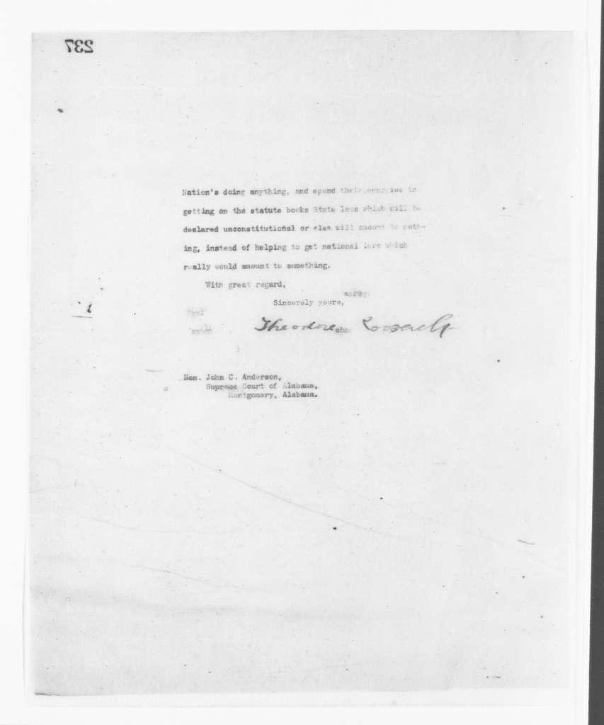 Theodore Roosevelt Papers: Series 2: Letterpress Copybooks, 1897-1916; Vol. 77, 1907, Dec. 11-1908, Jan. 17
