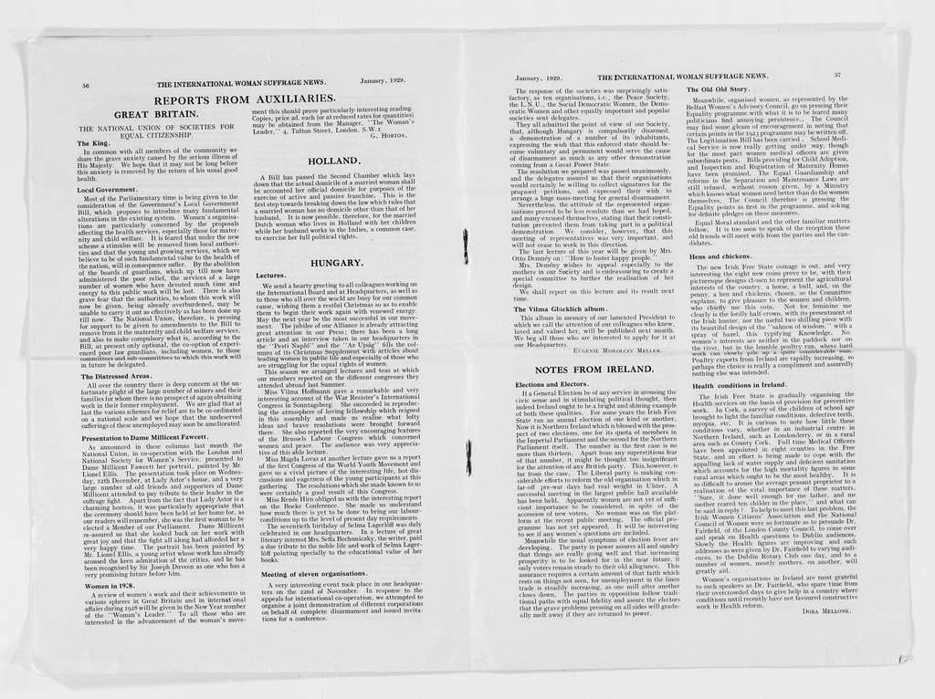 Carrie Chapman Catt Papers: Subject File, 1848-1950; Biographical papers; Miscellaneous material (chiefly newspaper clippings) concerning Catt