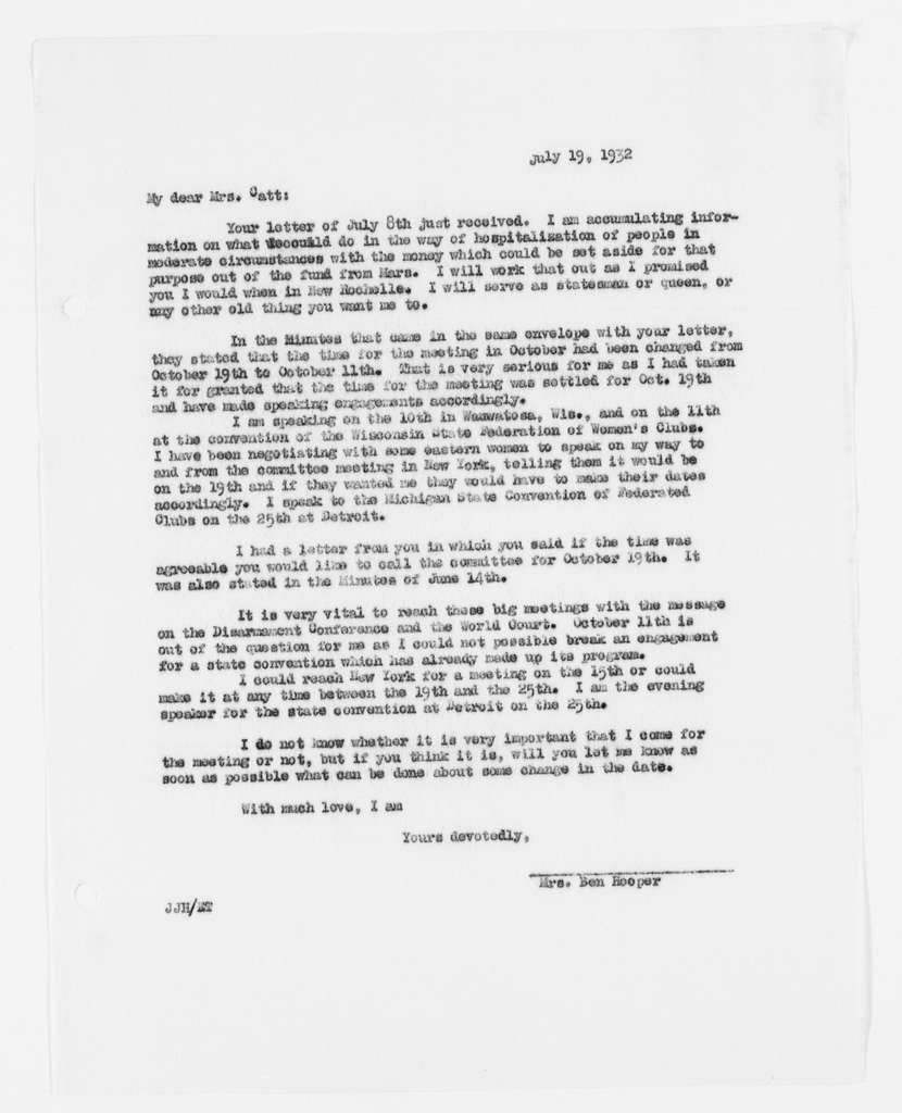 Carrie Chapman Catt Papers: Subject File, 1848-1950; National Committee on the Cause and Cure of Wars; Correspondence and related papers