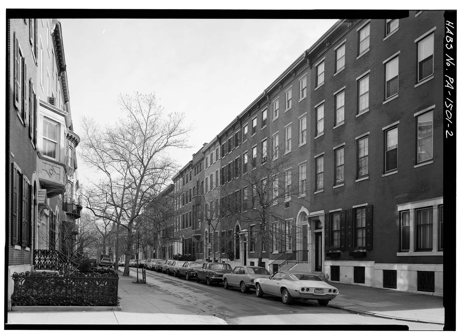 Delancey Street Area Study I, 1800-1836 Delancey Street (Houses), Philadelphia, Philadelphia County, PA