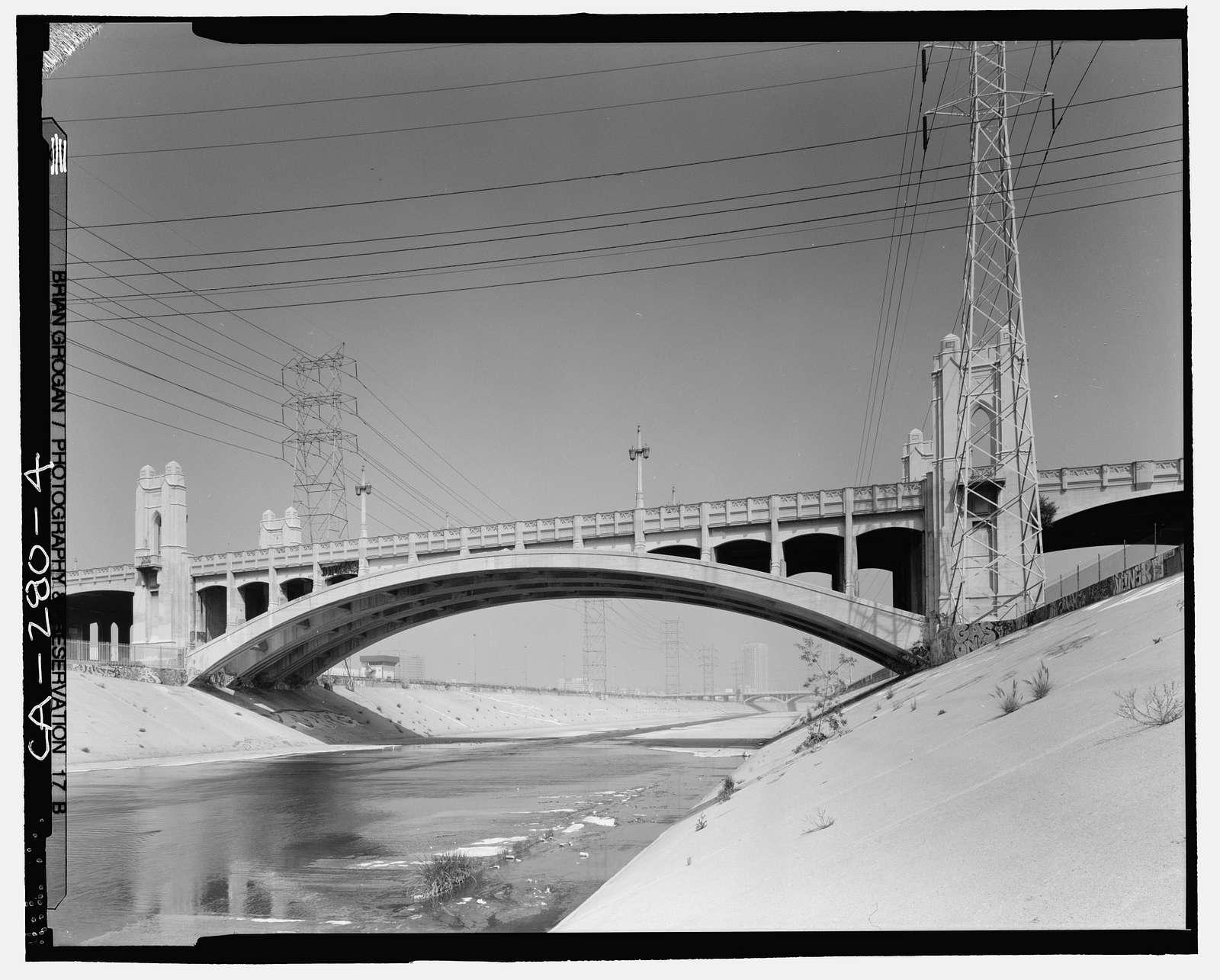 Fourth Street Viaduct, Spanning Los Angeles River, Los Angeles, Los Angeles County, CA