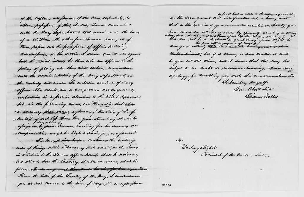 Gideon Welles Papers: Correspondence, 1820-1878; 1848, Apr.-1849, June