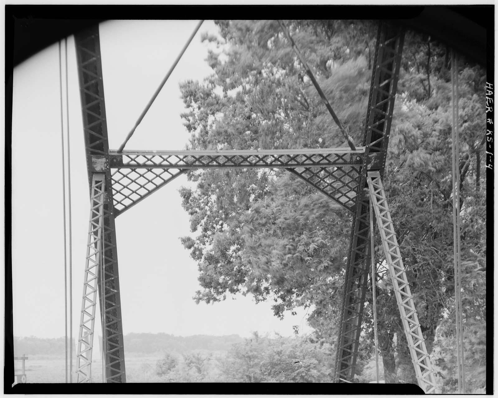 Half-Mound Bridge, Spanning Delaware River on Federal Aid Secondary Route 1325, Valley Falls, Jefferson County, KS