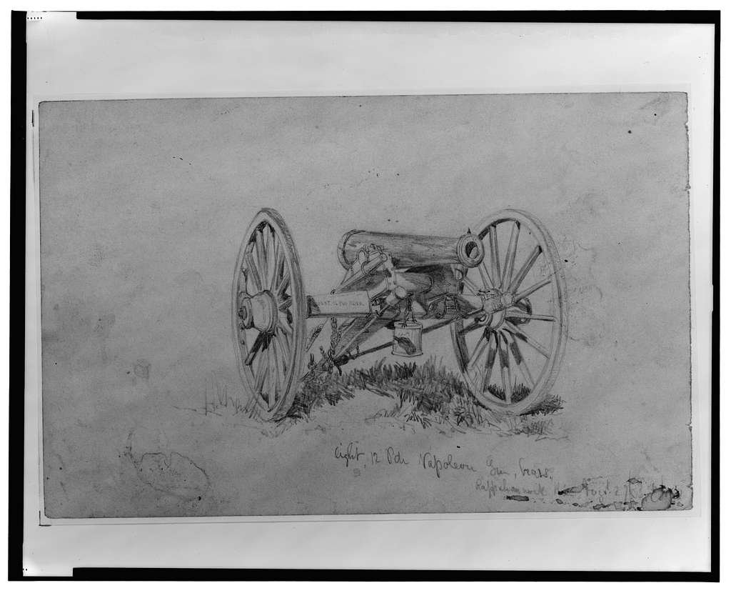 Light 12 pdr. Napoleon gun, brass, Rappahannock [?] / E Forbes.