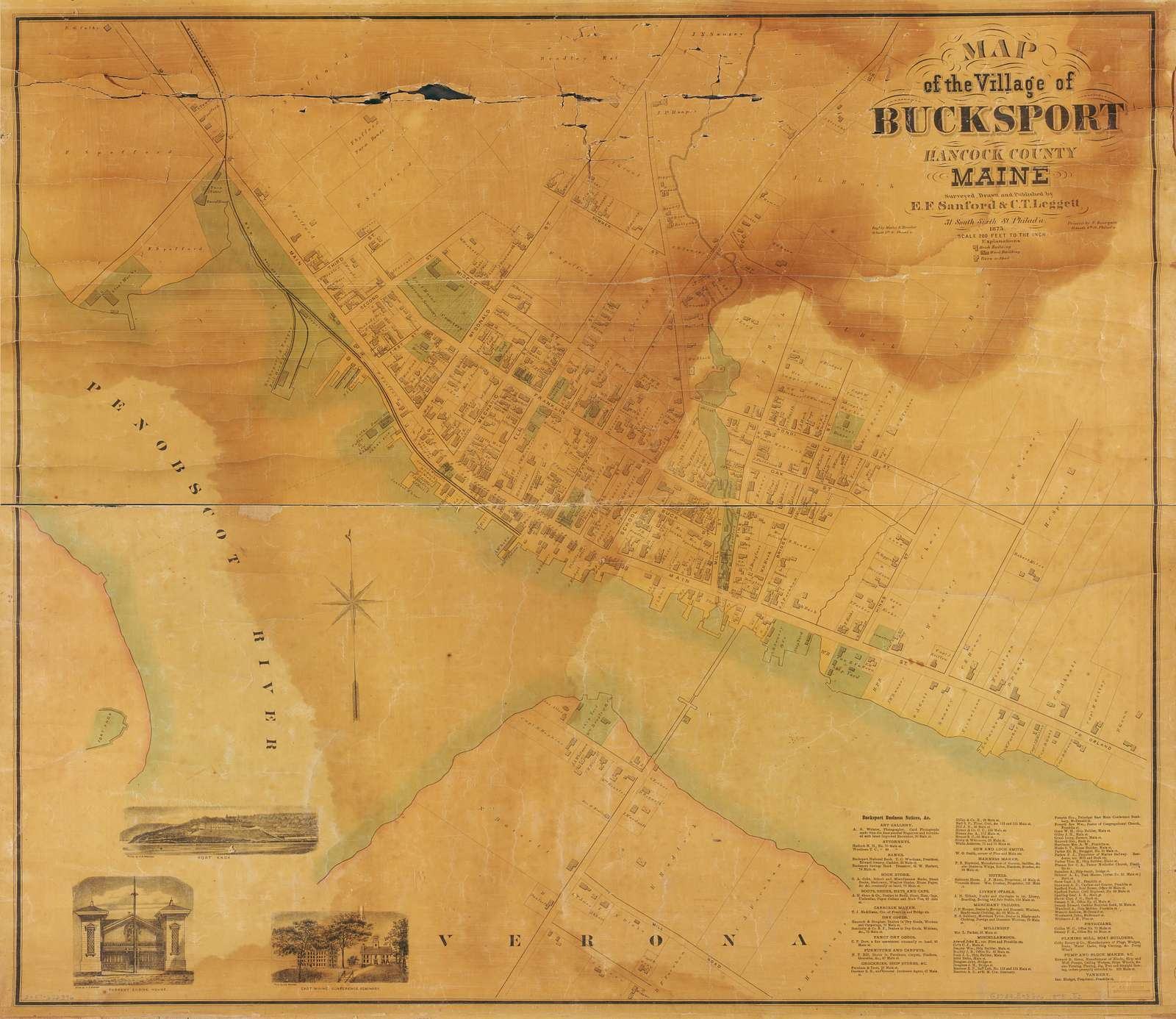 Map of the village of Bucksport, Hancock County, Maine /