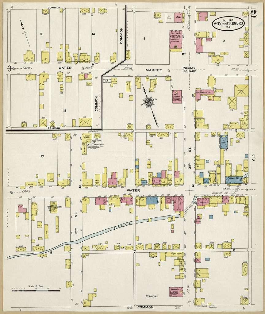 Sanborn Fire Insurance Map from McConnellsburgh, Fulton County, Pennsylvania.
