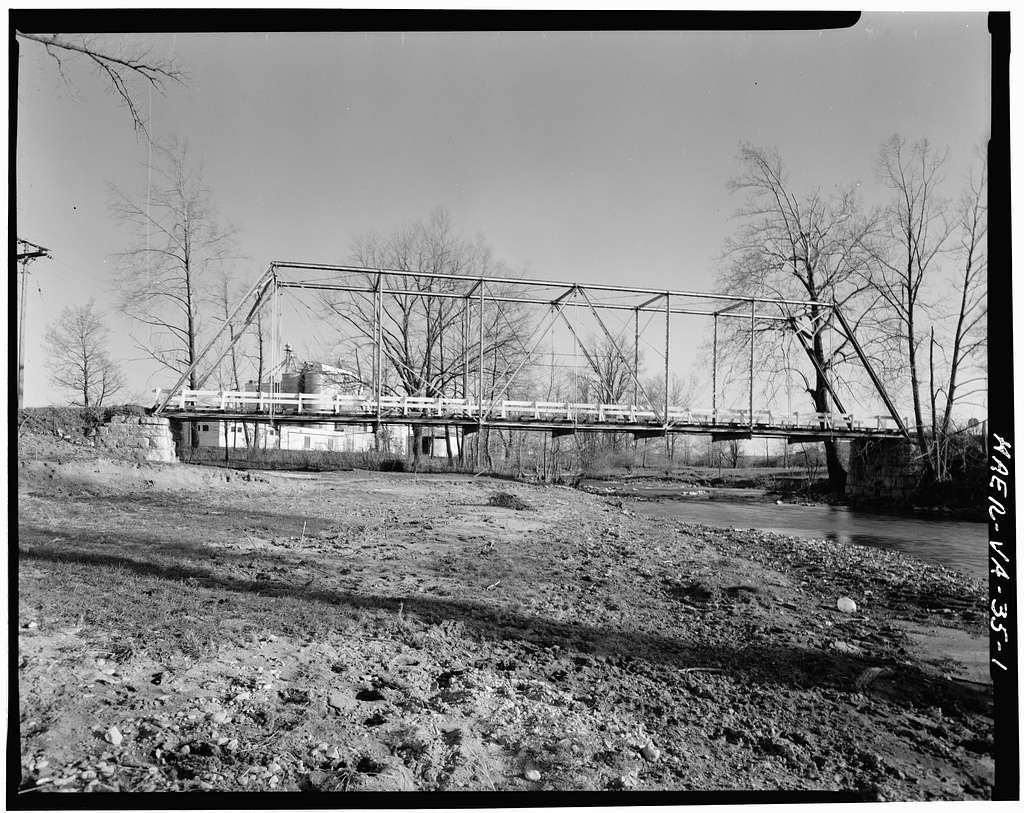 Thacher Truss Bridge, Spanning Linville Creek, Broadway, Rockingham County, VA