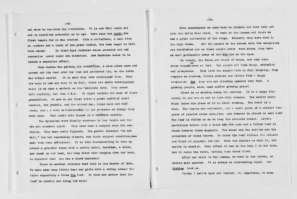 Carrie Chapman Catt Papers: General Correspondence, circa 1890-1947; Clark, Bennett Champ