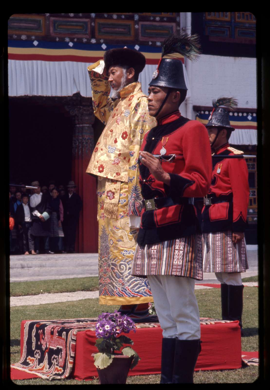 King reviews troops on his birthday, Sikkim