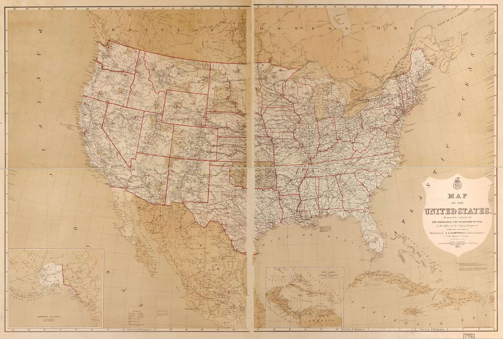 Map of the United States /