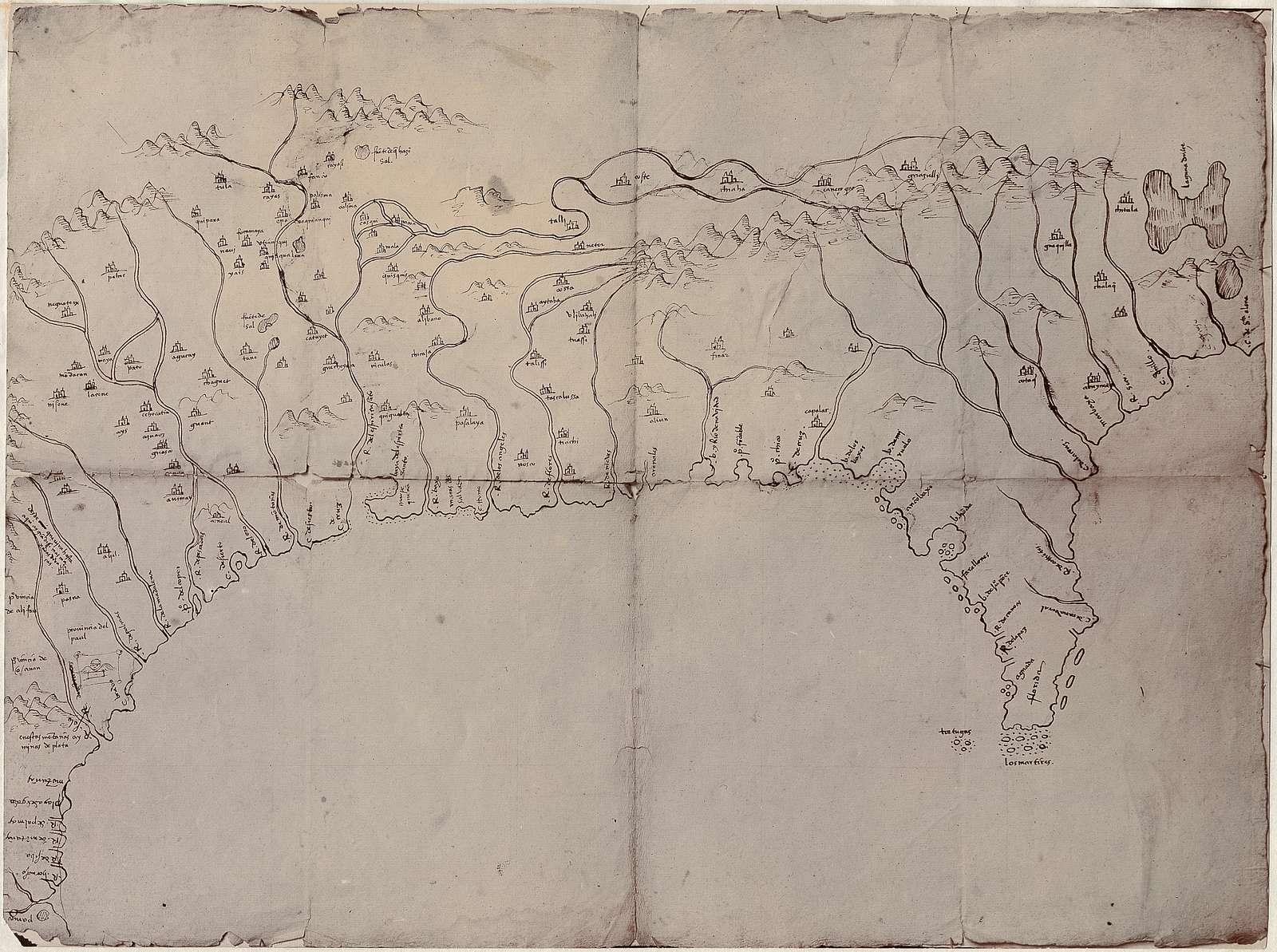 [Mapa del Golfo y costa de la Nueva España : desde el Río de Panuco hasta el cabo de Santa Elena ...].