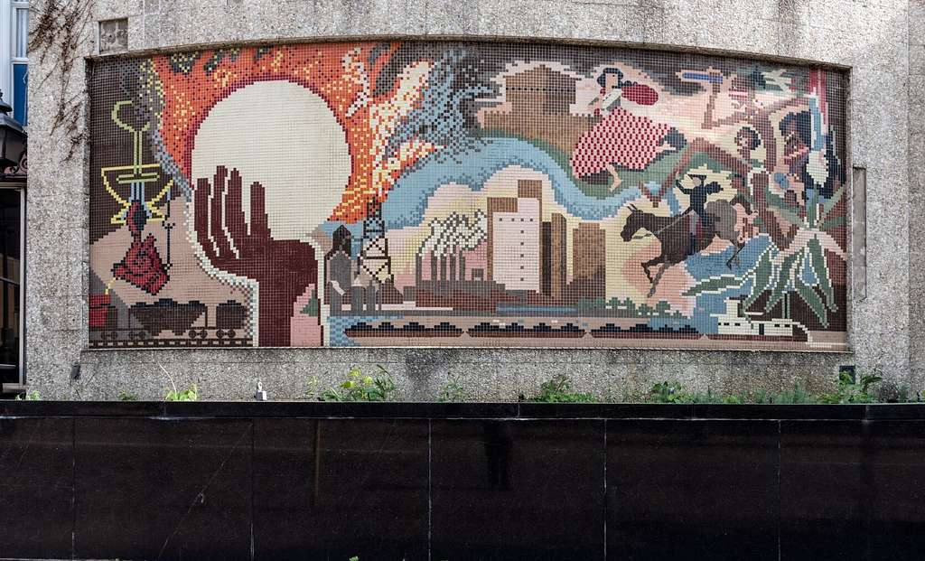 Mosaic mural at the Columbia Gas Building in downtown Wheeling, West Virginia