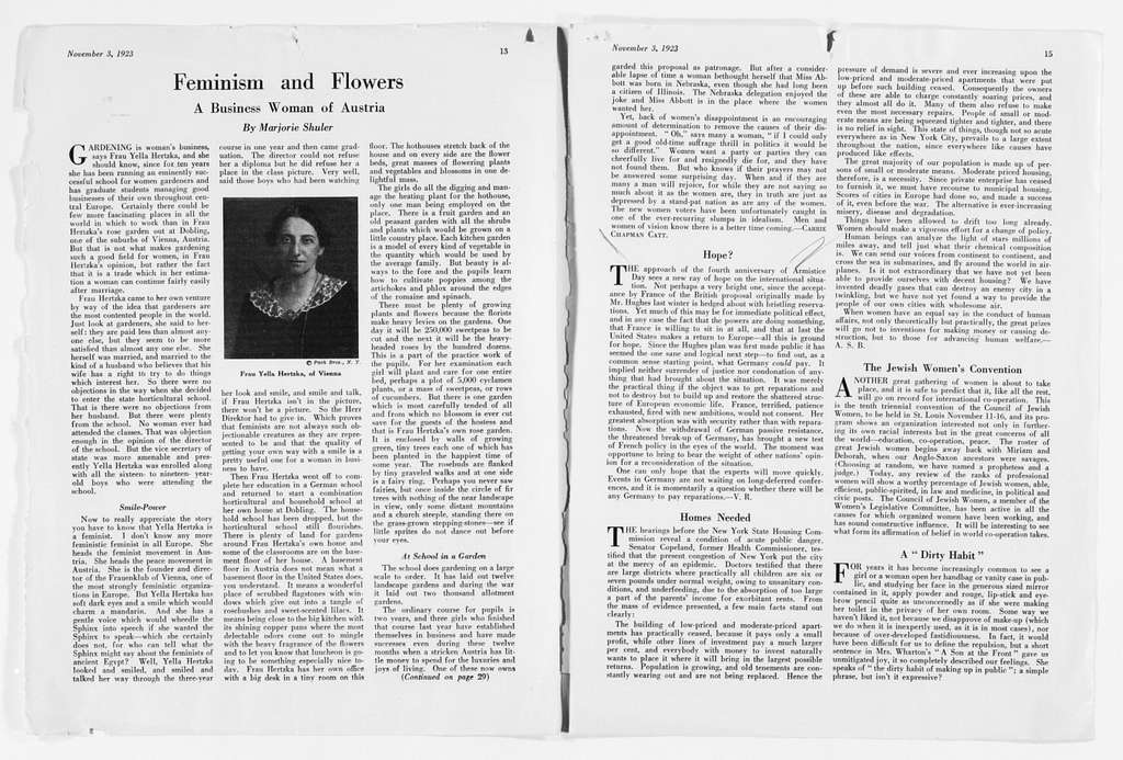 Carrie Chapman Catt Papers: Speech and Article File, 1892-1946; Articles; Articles and editorials for Woman Citizen, 1919-1927