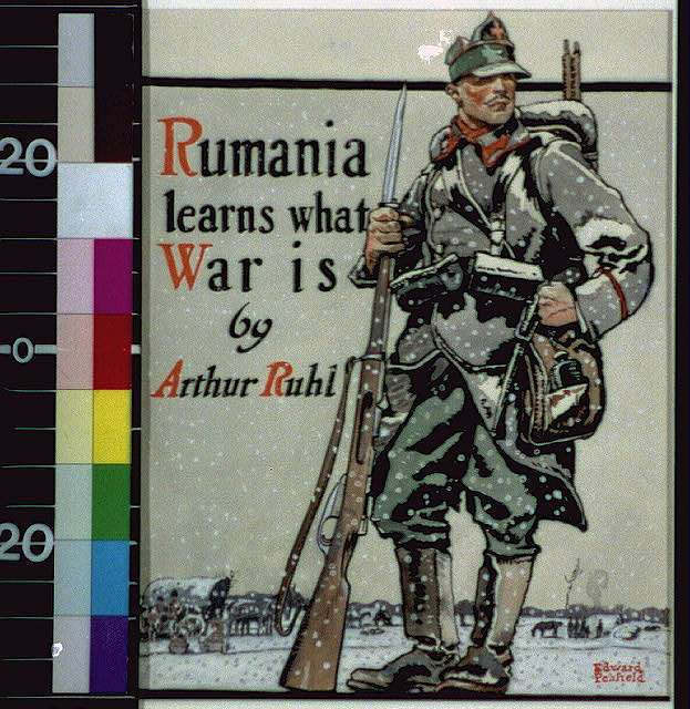 [Romanian soldier in snow]