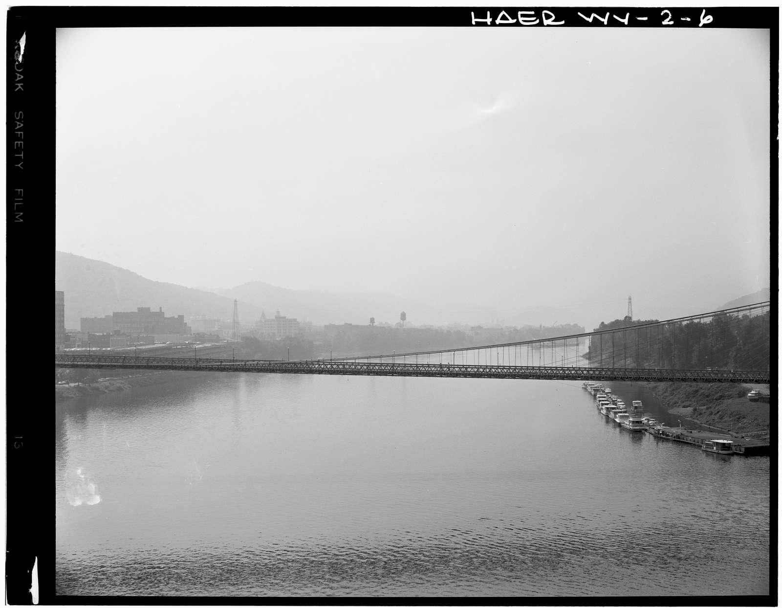 Wheeling Suspension Bridge, Spanning East channel of Ohio River at U.S. Route 40, Wheeling, Ohio County, WV