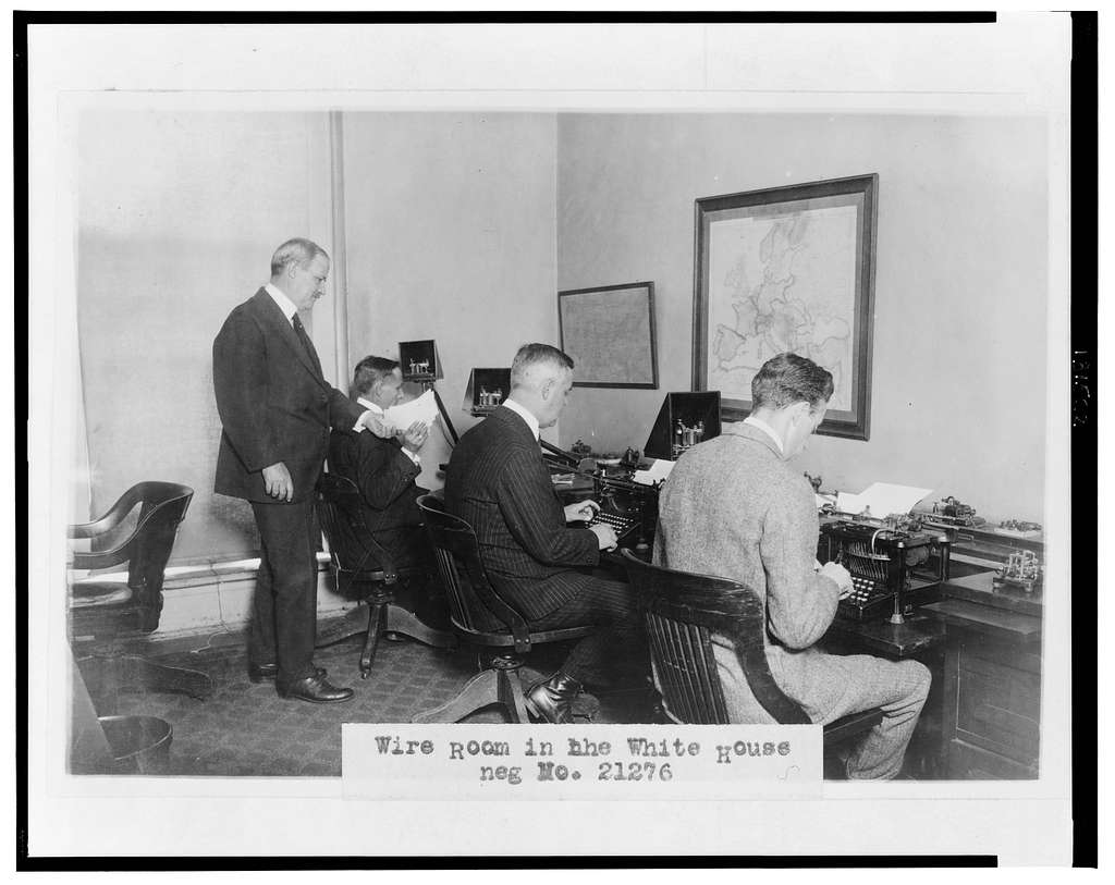 Wire room in the White House