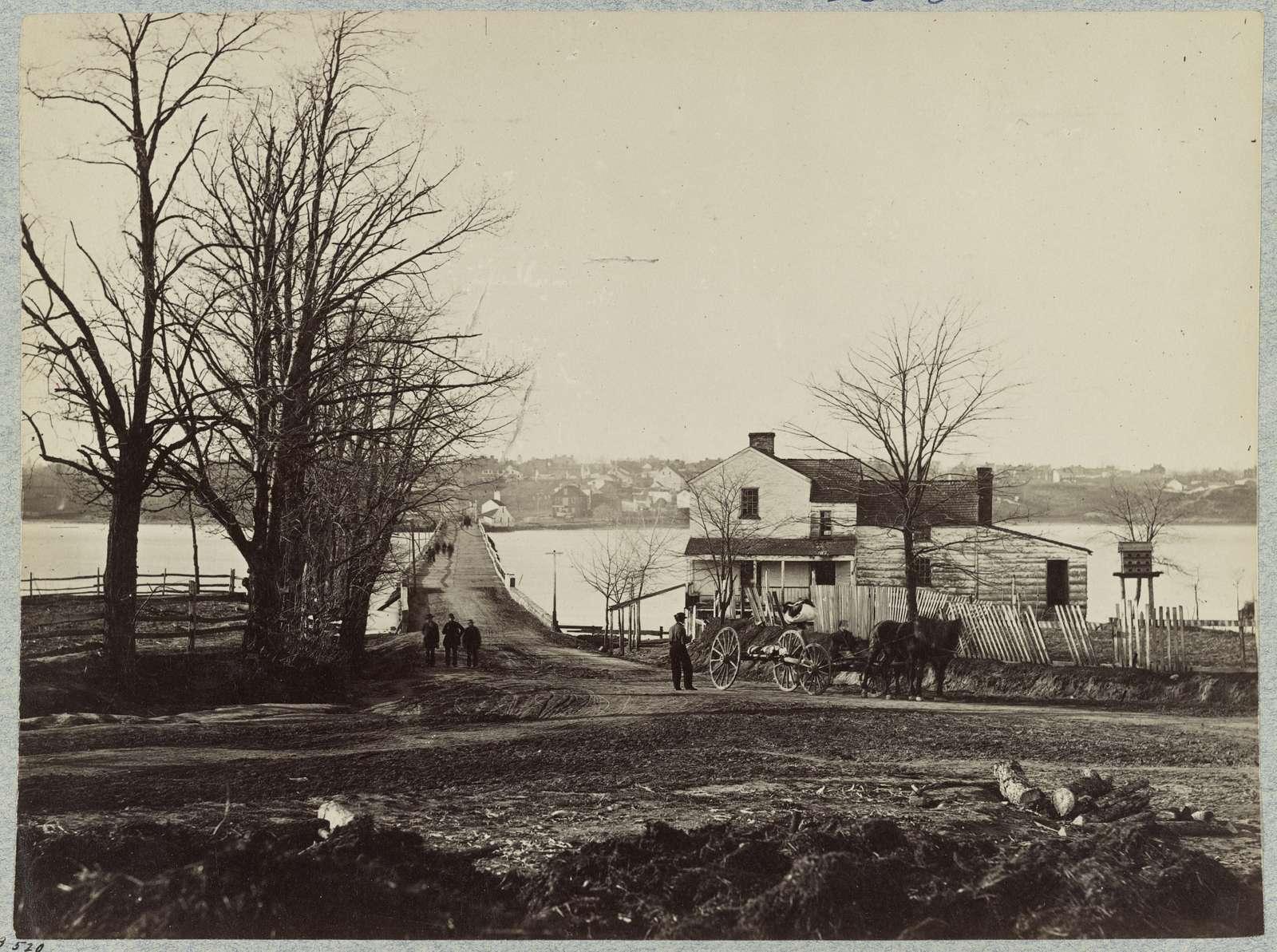 Bridge across Eastern branch of Potomac River, Washington, D.C., April, 1865